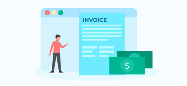 Invoice payment illustration concept for web landing page template